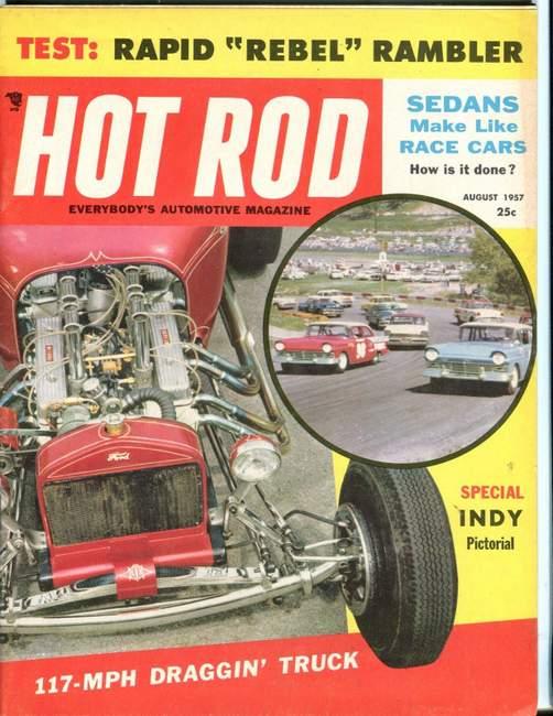 Hot Rod magazine August 1957 TV Tommy Ivo T-Bucket