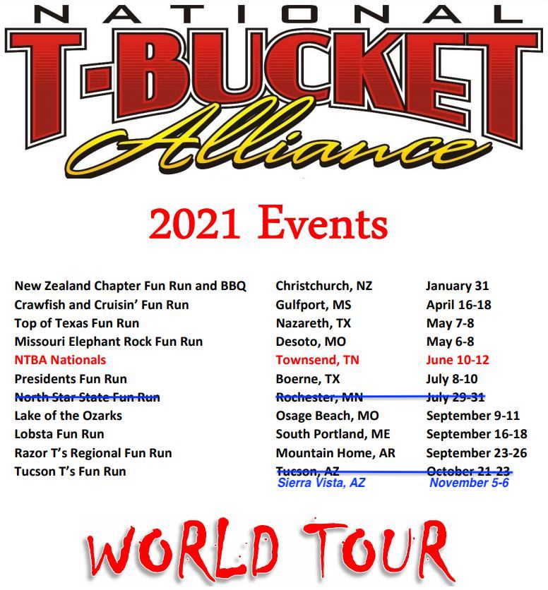National T-Bucket Alliance Events